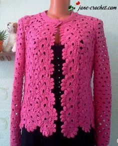 This Pin was discovered by ГАЛ Gilet Crochet, Crochet Coat, Crochet Jacket, Lace Jacket, Crochet Cardigan, Love Crochet, Crochet Scarves, Beautiful Crochet, Crochet Clothes