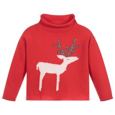 Girls Red Wool Sweater for Girl by Il Gufo. Discover more beautiful designer Tops for kids online Girls Sweaters, Wool Sweaters, Kids Online, Hoodies, Sweatshirts, Elegant Dresses, Ice Land, Red, Shopping