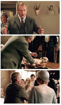 Downton Abbey Season 6 ...Robert and the new puppy..: