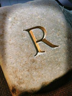 R in cobble Www.carvedstoneletters.co.uk