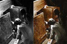Fotógrafos británicos tardaron más de 700 horas en colorear las imágenes de las excavaciones de la tumba de Tutankamón, uno de los faraones egipcios más famosos y misteriosos. Las fotografías cuentan la historia del proceso de las excavaciones, encabezadas por el arqueólogo Howard Carter, que comenzaron hace más de un siglo y duraron cerca de 15 años.
