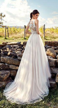 eddy k 2019 ek sleeveless a  line wedding dress sheer lace back chapel train (30) mv bv -- Eddy K. 2019 Wedding Dresses