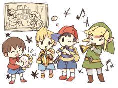 Súper adorable little Link should've had an ocarina