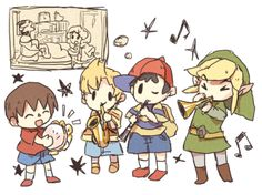 Súper adorable little Link should've had an ocarina