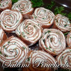 Salami Pinwheels with Cream Cheese Recipe - A quick and tasty appetizer that's easy to make!
