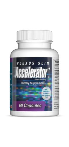 When taken with Plexus Slim, the Accelerator+ helps speed up weight loss or helps people overcome weight plateaus. Simply take one capsule with one stick pack of Plexus Slim 30 minutes after breakfast. The combination of ingredients in the Plexus Slim and Plexus Accelerator+ work synergistically to help you lose weight—easy and fast!