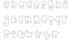 Resultado de imagen para moldes de letras para imprimir grandes