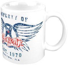 Amazon.com | Aerosmith Property of Logo Boxed Mug: Coffee Cups & Mugs