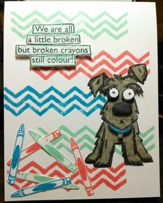 Mindy Cottingham: Tim Holtz Crazy Dogs stamps & dies, Dylusions Clearly…