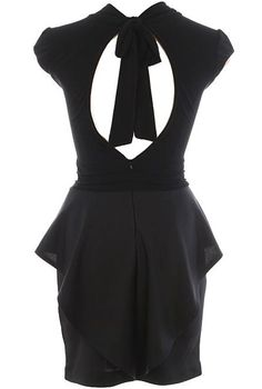 Open-Back Peplum Dress from RicketyRack $60