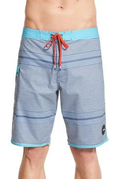c21a02be0d RVCA 'Vector' Stripe Print Board Shorts available at #Nordstrom Stripe  Print, Swim