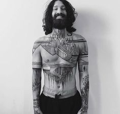 These ten amazing architecture tattoos don't need you to be an architect to appreciate its beauty inspired in body art. Check out this interesting list of simply amazing tattoos complied by us to see what Chest Tattoo, Back Tattoo, Trendy Tattoos, Tattoos For Guys, Body Art Tattoos, Sleeve Tattoos, Tatoos, Spiritual Tattoo, Tattoo Homme