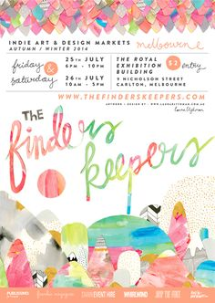 The Finders Keepers | Melbourne AW14 Markets flyer | artwork by Laura Blythman