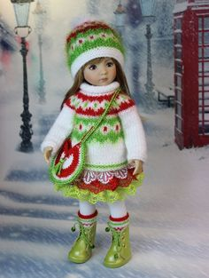 "The dress for a doll Дианна Effner Little Darling 13"". doll clothes, dress 