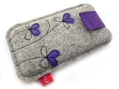 "Handytasche ""Petite Fleur"" flieder (iPhone 5)"