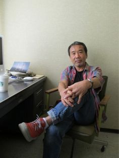Haruki Murakami. Kicking back.