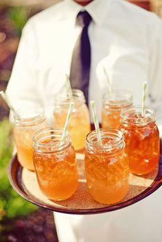 Firefly icetea and lemonaide specialty drink with straws found at BHLDN store in highland village