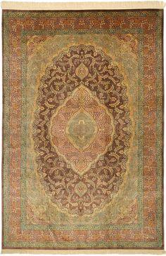 Qum silk signed: Qum Asodegan VAH6 carpet from Persia / Iran - CarpetVista Collectible