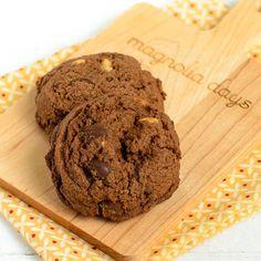Quadruple Chocolate Shortbread Cookies | Magnolia Days