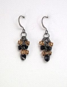 New Orleans Saints Crystal Cluster Earrings by TSDesignss on Etsy