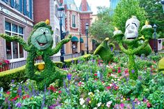 Disney Topiaries | Cogsworth and Lumière