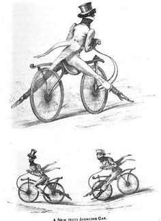 "The Regency dandy on his velocipede.  ""The pedestrian curricle"", Georgette Heyer"