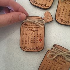 Wooden Save-the-Date Magnet Calendar, Mason Jar Save The Date Wedding magnets, Custom save the date Rustic, Wood save the date invitation Easy Halloween Decorations, Wedding Decorations, Wedding In The Woods, Our Wedding, Wedding Ideas, Wedding Favours, Wedding Invitations, Laser Cutter Projects, Save The Date Magnets