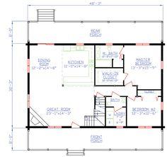 House Plan 74100 - 1st floor