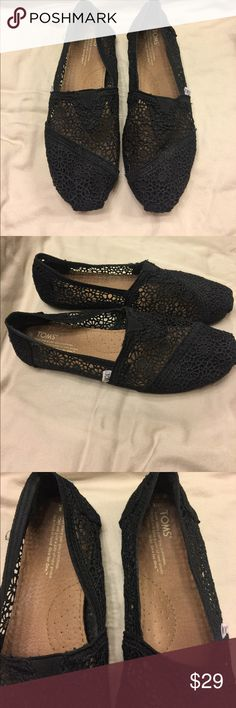 Toms shoes Black Tom shoes! Toms Shoes Flats & Loafers