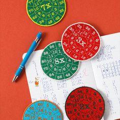 Oefenschijven voor de tafels   borduren editie 75-2021