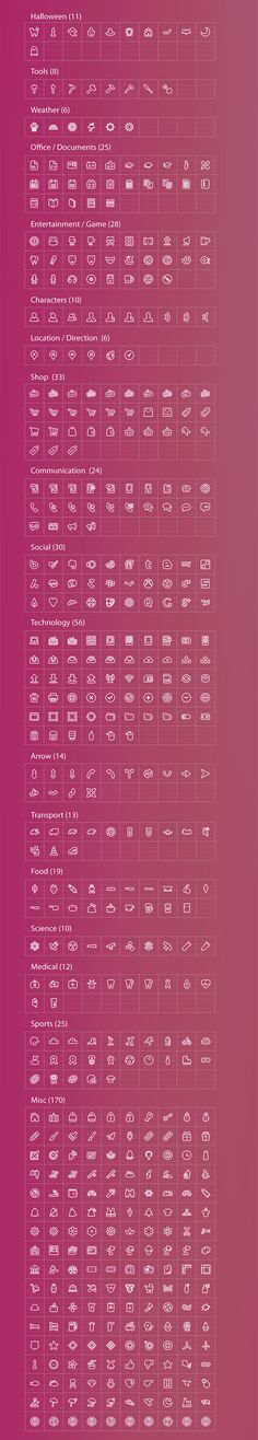 2,000 iOS7-Style Icons With Reselling License