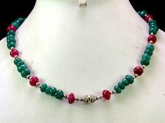 (SKU NO:224ct) Natural Semi Precious Designer Beads Necklace Faceted.