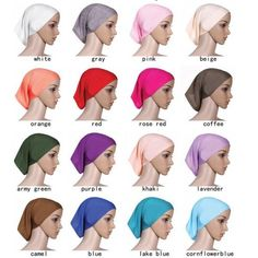 New Women Under Scarf Tube Bonnet Cap Bone Islamic Head Cover Hijab 20Colors H13 #Unbranded #Hijabs