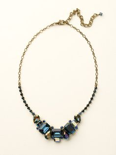 Emerald and Pear Cut Crystal Collar Necklace in Dress Blues by Sorrelli - $180.00 (http://www.sorrelli.com/products/NCT13AGDBL)