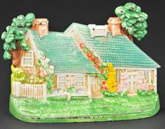 Hubley, brightly painted example, quaint cottage