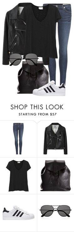 """""""Untitled #1909"""" by annielizjung ❤ liked on Polyvore featuring rag & bone, Acne Studios, American Vintage, Chanel and The Row"""