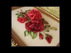 Часть 2. Еmbroidery ribbons. Детали вышивки лентами. Оксана Коротич. Цветы, птицы, розы, подсолнухи. - YouTube