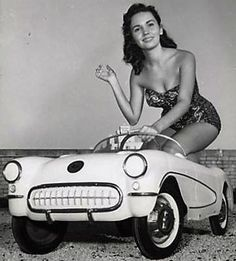 1956-'57 Corvette pedal car & cutie