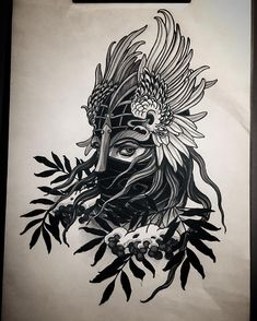 Valkyrie. available for tattoo #valkyrie #rakov #rakovtattoo