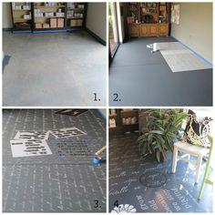 How to Transform Floors Using Chalk Paint® - The Palette  from Annie Sloan Unfolded - Stencils by Royal Design Studio / Custom Modello Designs http://www.modellodesigns.com