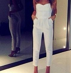 Image of SEXY STRAPLESS JUMPSUIT a-3-9 Looks Style, Style Me, Classy Style, Moda Fashion, Womens Fashion, Cheap Fashion, Net Fashion, Fashion 2014, Fall Fashion