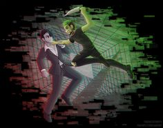 Darkiplier VS Antisepticeye by padfootlet