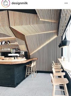 The restaurant's decoration style is the same as food, unique and delicious can not be forgotten. Good design will Satisfy your eyes, ears and taste buds. Usually you go into a new restaurant… Interior Design Examples, Shop Interior Design, Cafe Design, Interior Design Inspiration, Interior Decorating, Design Ideas, Design Shop, Store Design, Architecture Restaurant