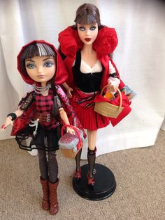 Ever After High parents Little Red Riding Hood with her daughter Cerise Hood from Ever After High (by Eve)