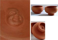 tea bowls before the kiln . like the face Tea Bowls, Gadgets, Ceramics, Tableware, Face, Other, Ceramica, Pottery, Dinnerware