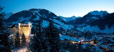 "Gstaad Palace Hotel, Switzerland.  ""The hills are alive...."" Always a dream destination of mine.  Someday!"