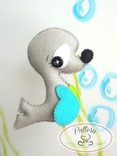 THE SEAL (PDF)  This cute little friend is THE SEAL, perfect to be part of a cute baby mobile or as a present for anyone!! As always quick,