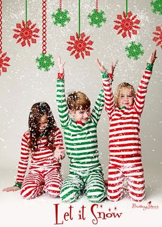 CharmLeaks Little Girl & Boy Reindeer Cotton Kid Christmas Pajamas ...