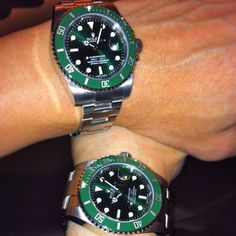 rolex submariner green one of my favorites Dream Watches, Luxury Watches, Rolex Watches, Rolex Submariner Green, Submariner Date, Stylish Watches, Cool Watches, Fashion Shoes, Clothing