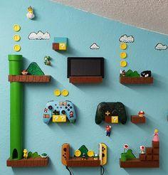 Free STL file Super Mario World Nintendo Switch Controller Pro Joy Con Wall Holder, NevaMasquarade Super Mario Room, Super Mario World, Video Game Decor, Video Game Rooms, Nintendo Room, Nintendo Decor, Boy Room, Kids Room, Mario Crafts